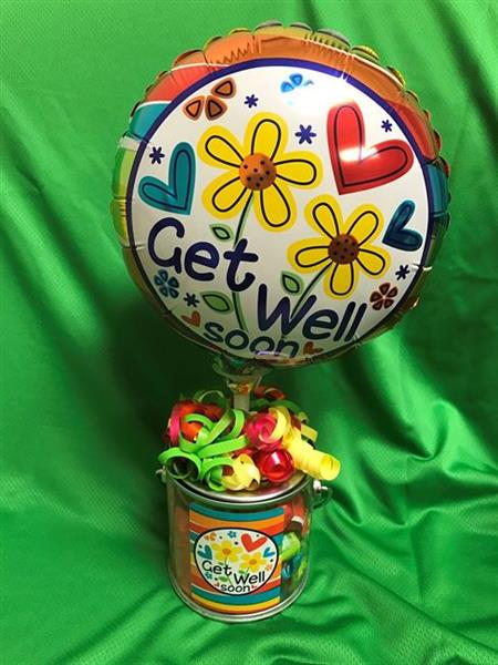 Get Well Balloon & Candy Container