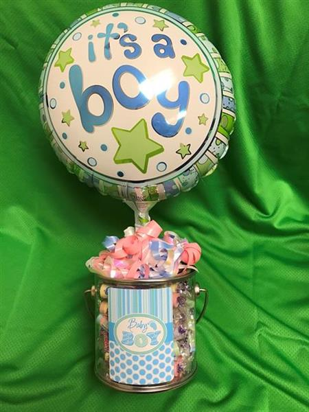 """It's a Boy"" Balloon & Candy Container"