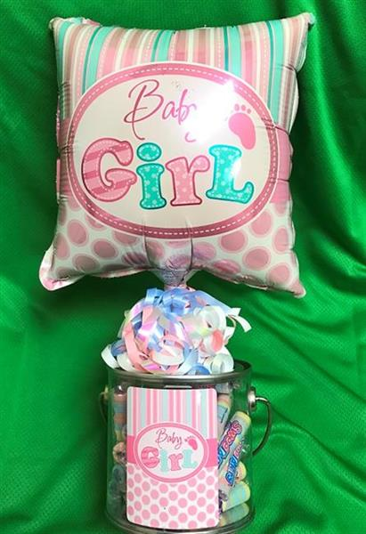 """It's a Girl"" Balloon & Candy Container"